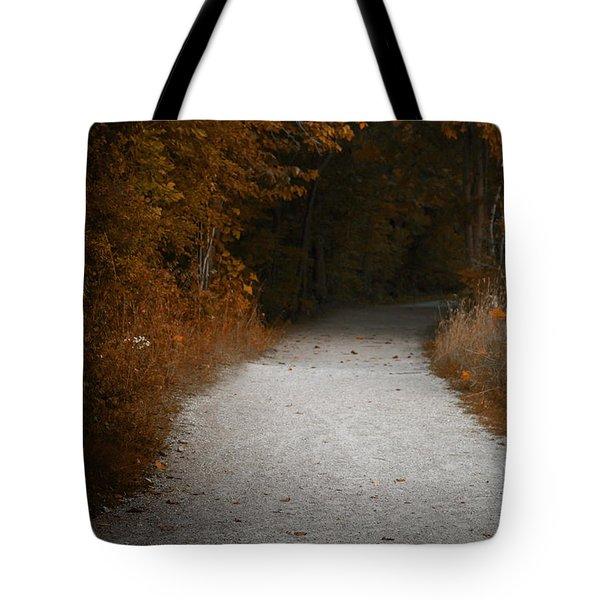 The Fall Path Tote Bag