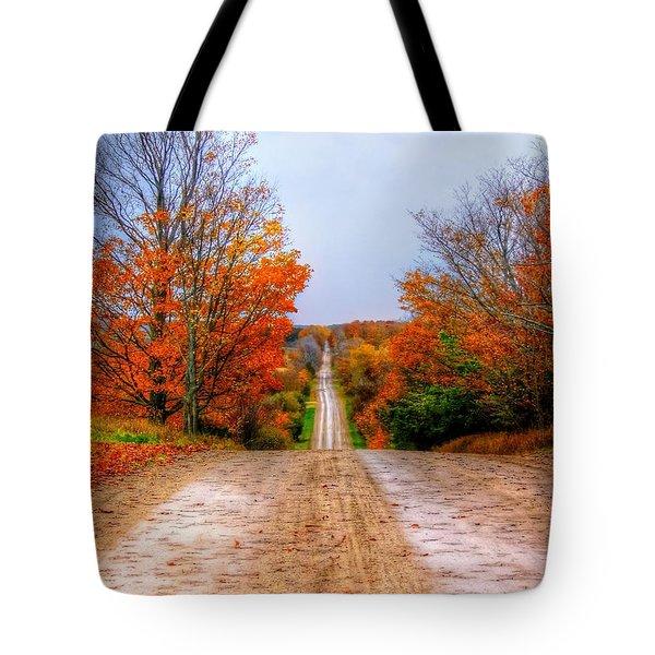 The Fall Road Tote Bag by Michael Garyet