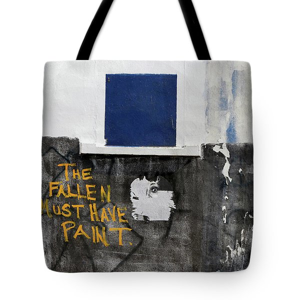 Tote Bag featuring the photograph The Fallen Must Have Paint by JoAnn Lense