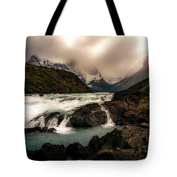 Tote Bag featuring the photograph The Falls by Andrew Matwijec