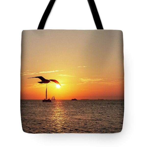 The Famous Key West Sunset  Tote Bag