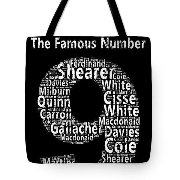 The Famous Number 9 - Newcastle United Wordart Tote Bag