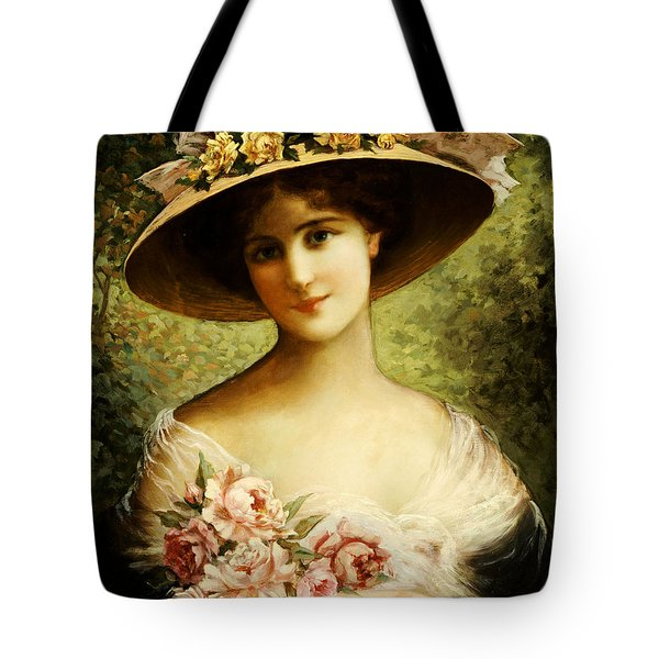 The Fancy Bonnet Tote Bag by Emile Vernon