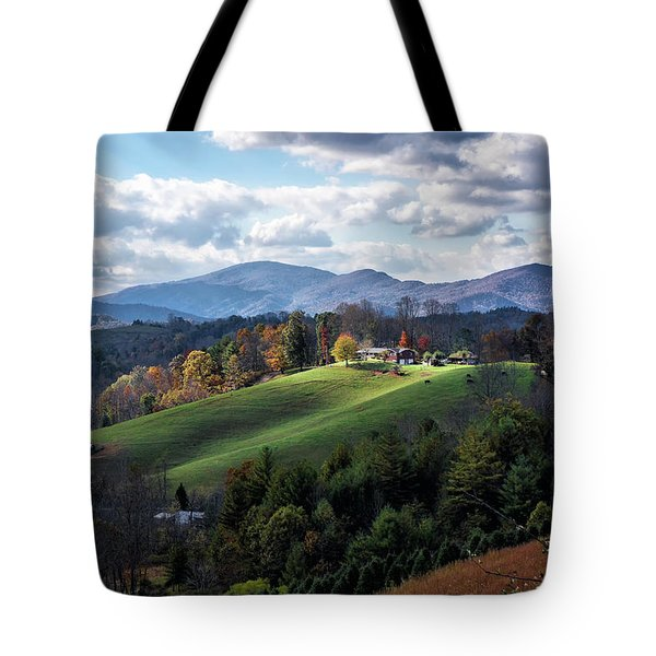 The Farm On The Hill Tote Bag