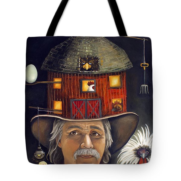 The Farmer Tote Bag by Leah Saulnier The Painting Maniac