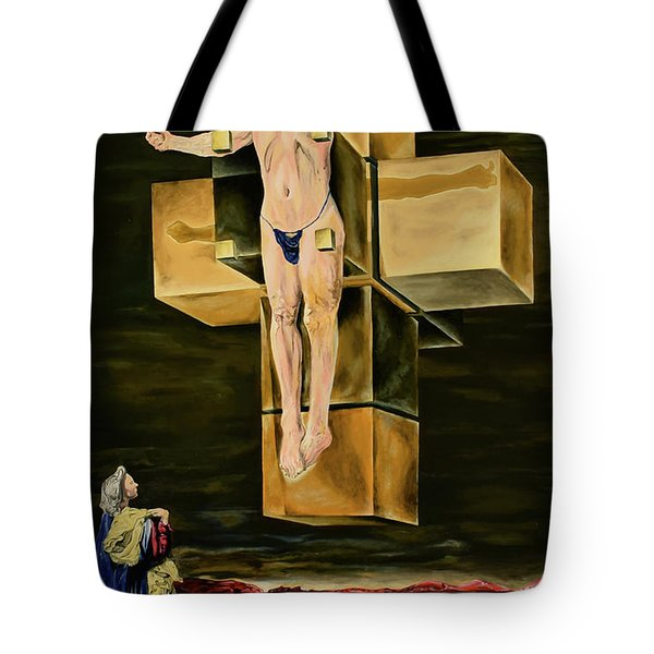 The Father Is Present -after Dali- Tote Bag