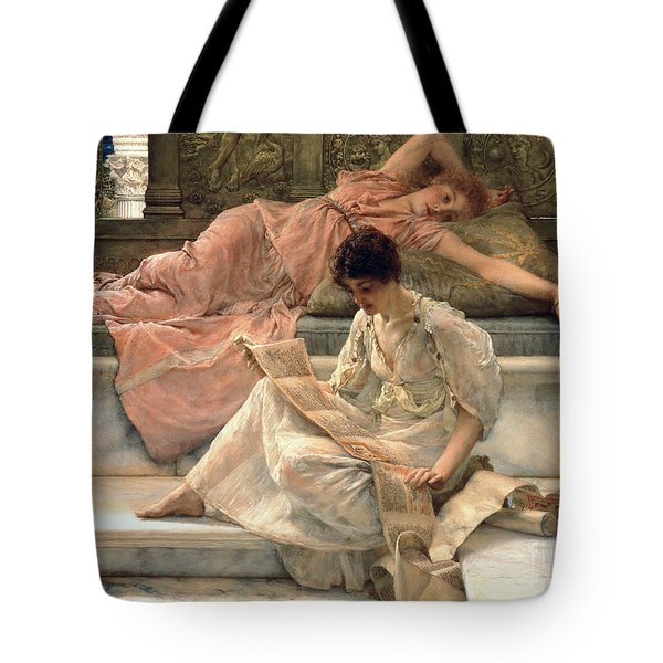 The Favourite Poet Tote Bag by Sir Lawrence Alma-Tadema