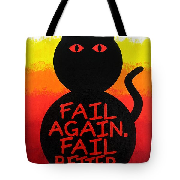 The Fearline Of Failure Tote Bag by Oliver Johnston