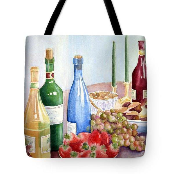 The Feast Tote Bag by Deborah Ronglien