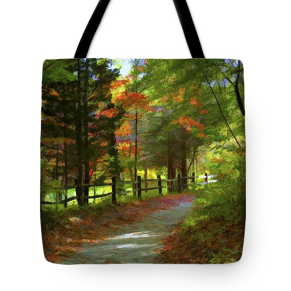 The Fence Tote Bag by Jeff Breiman