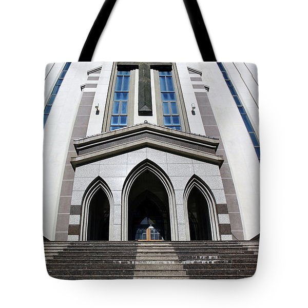 Tote Bag featuring the photograph The Fengshan Presbyterian Church In Taiwan by Yali Shi