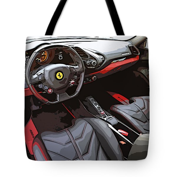 The Ferrari 488 2016 Tote Bag