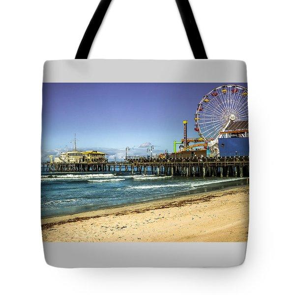 The Ferris Wheel - Santa Monica Pier Tote Bag