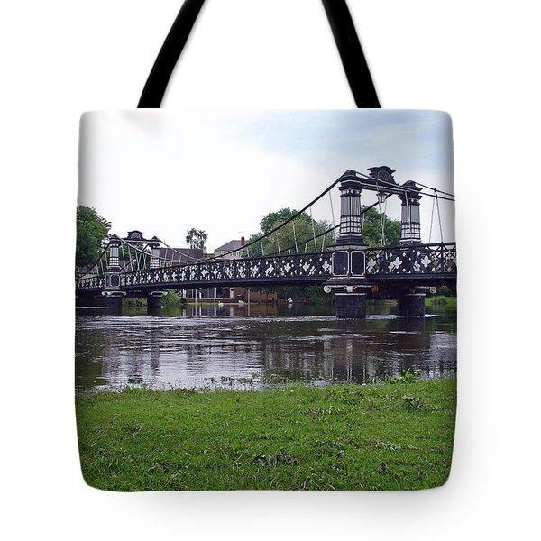 The Ferry Bridge Tote Bag by Rod Johnson