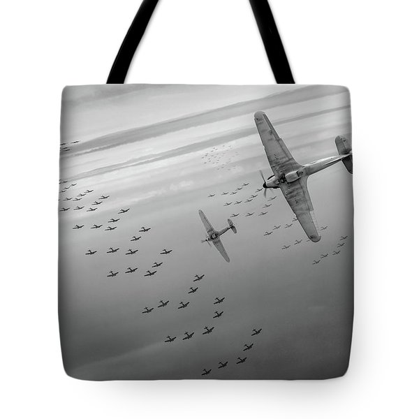 Tote Bag featuring the photograph The Few Bw Version by Gary Eason