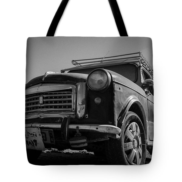 Tote Bag featuring the photograph The Fiat Leads by Jez C Self