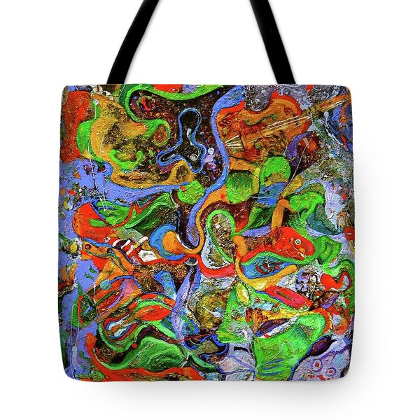 The Fiddle Player Tote Bag by Lee Ransaw