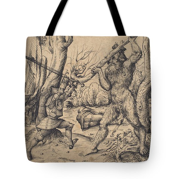 The Fight In The Forest Tote Bag