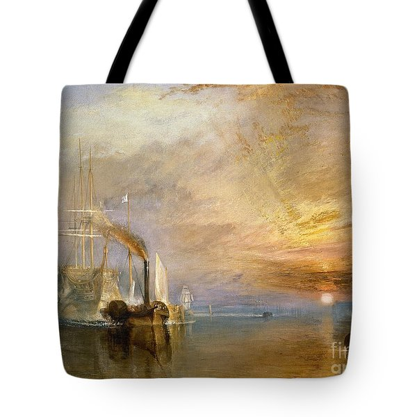 The Fighting Temeraire Tugged To Her Last Berth To Be Broken Up Tote Bag