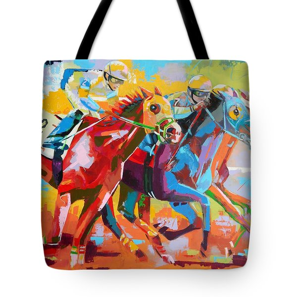 The Finishing Post- Large Work Tote Bag