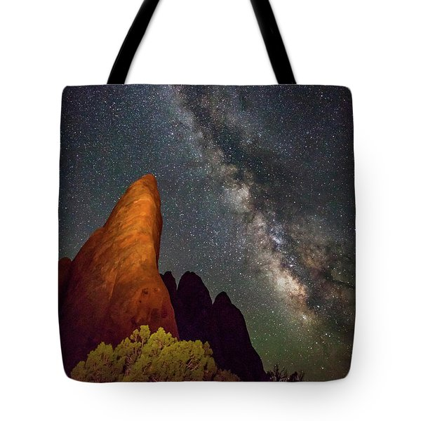 The Fins At Sand Dune Arch Tote Bag