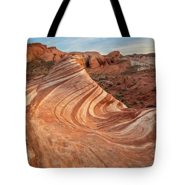 The Fire Wave Tote Bag