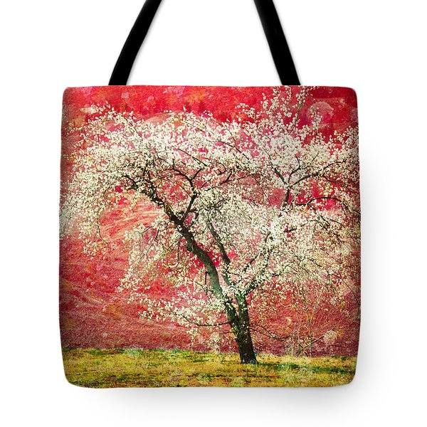 The First Blossoms Tote Bag by Tara Turner