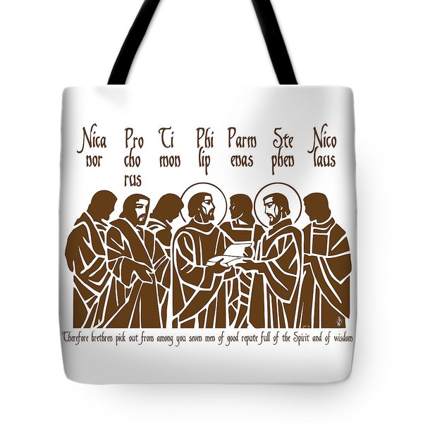 The First Deacons Tote Bag by Lawrence Klimecki