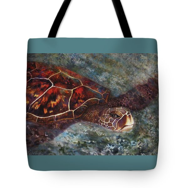 The First Honu Tote Bag by Kerri Ligatich