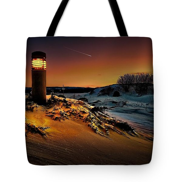 The First Light At Sunset Tote Bag
