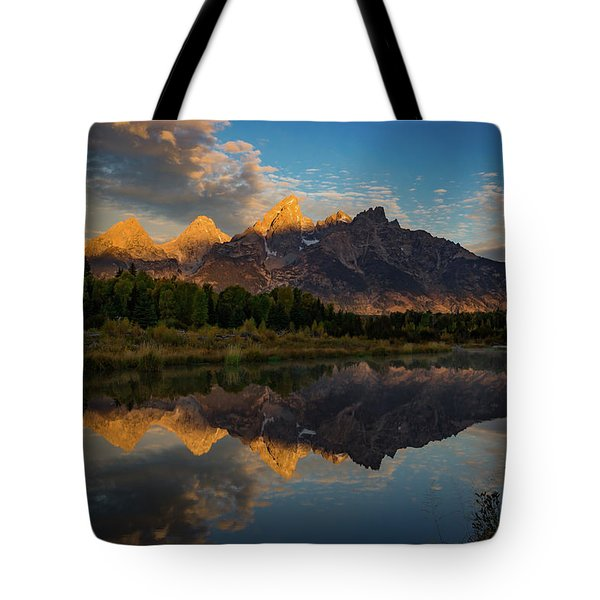 The First Light Tote Bag by Edgars Erglis