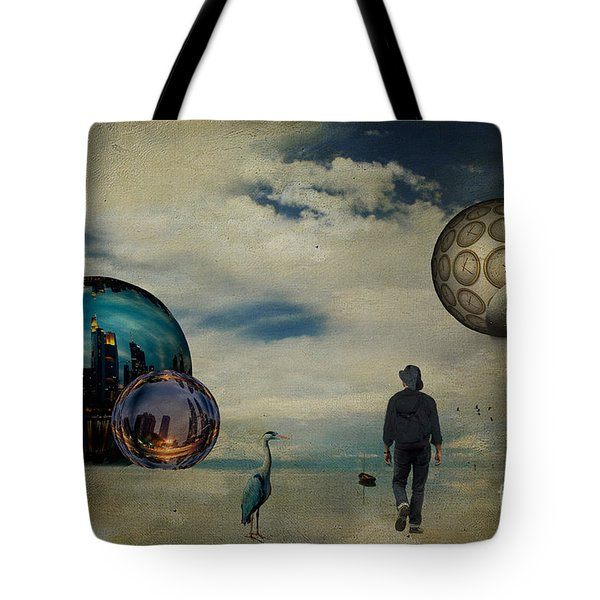 Tote Bag featuring the photograph The First Step ... by Chris Armytage