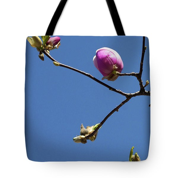 The First To Bloom Tote Bag