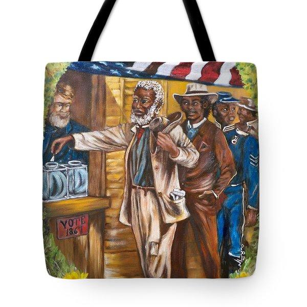 Historical  Artwork     First Vote - 1867 Tote Bag
