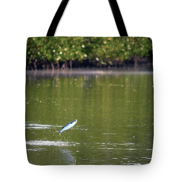 The Fish Are Jumping Tote Bag