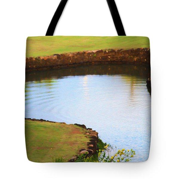 The Fish Pond Tote Bag by Bonnie Follett