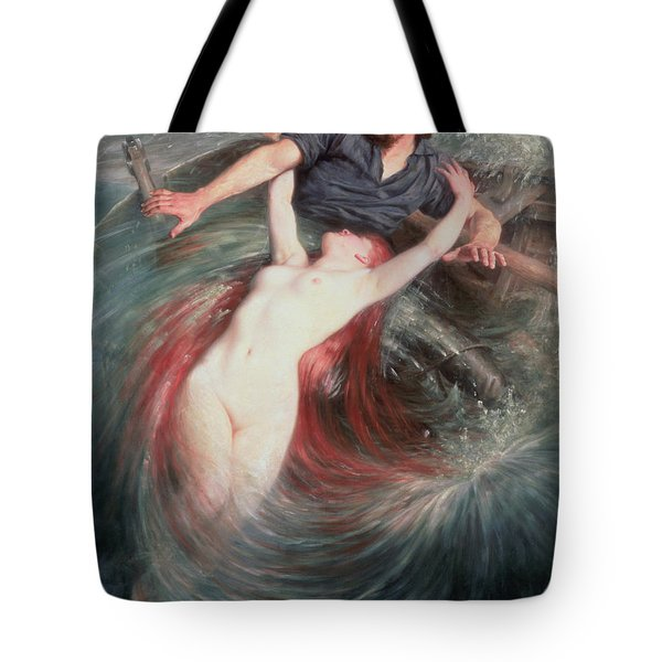 The Fisherman And The Siren Tote Bag