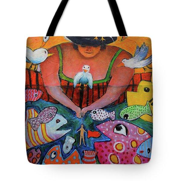 The Fisherman's Almanac Tote Bag