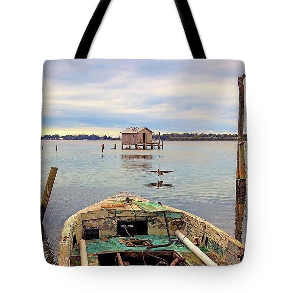The Fishing Shack Tote Bag
