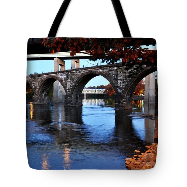The Five Bridges - East Falls - Philadelphia Tote Bag by Bill Cannon
