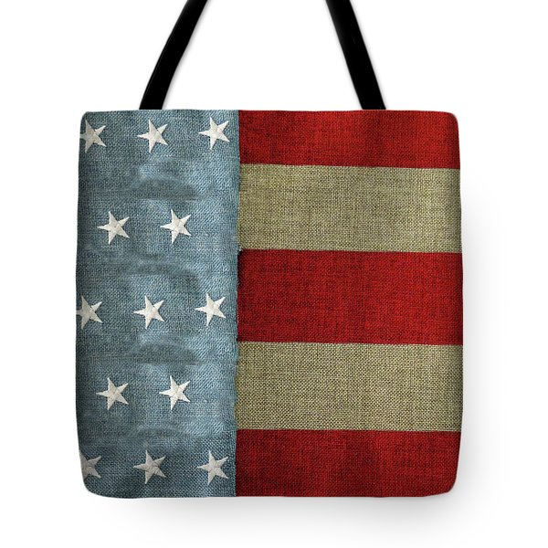 Tote Bag featuring the photograph The Flag by Tom Prendergast