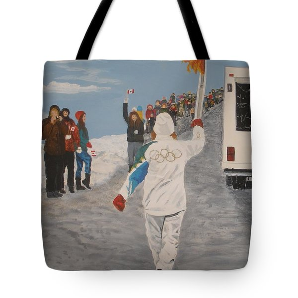 Tote Bag featuring the painting the Flame by Betty-Anne McDonald