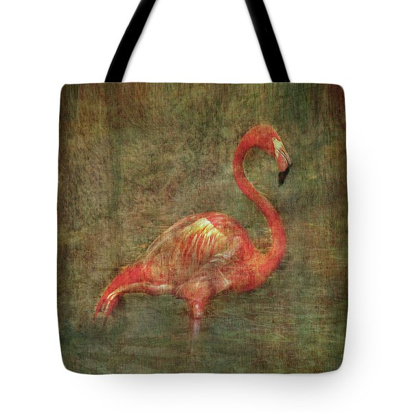 Tote Bag featuring the photograph The Flamingo by Hanny Heim