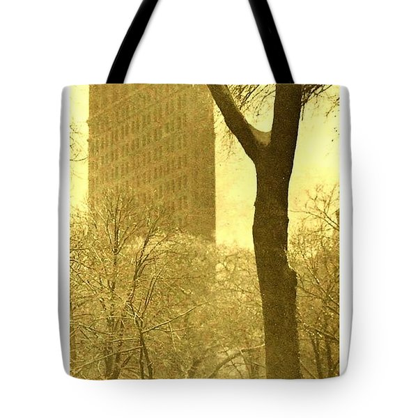 Tote Bag featuring the photograph The Flat Iron Building 1903 Alfred Stieglitz by Peter Gumaer Ogden