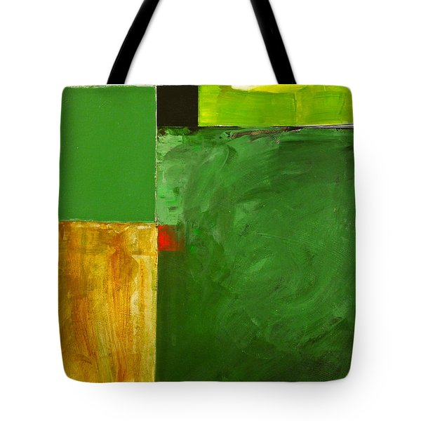 Tote Bag featuring the painting The Flat Lands by Cliff Spohn