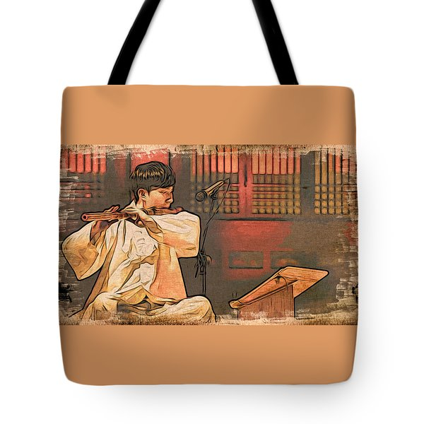 The Flautist Tote Bag