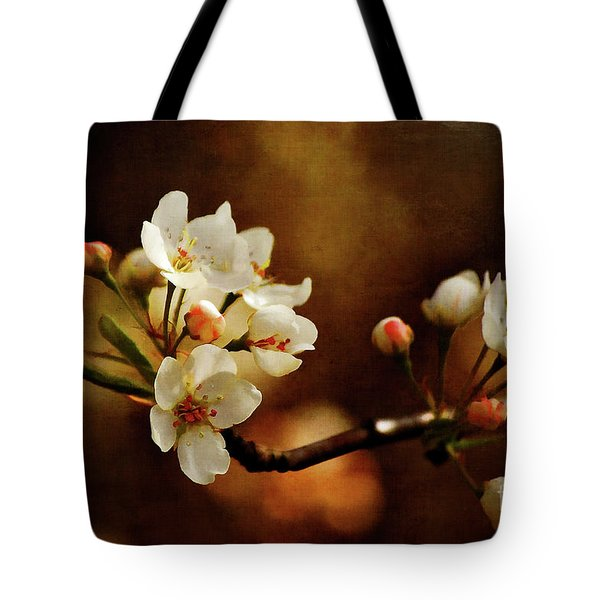 The Fleeting Sweetness Of Spring Tote Bag by Lois Bryan