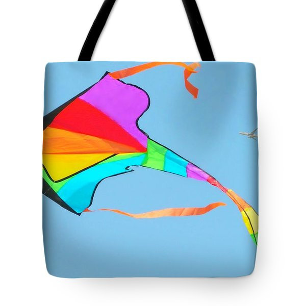 Flight And The Kite Tote Bag