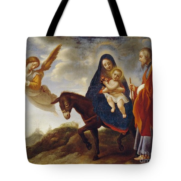The Flight Into Egypt Tote Bag by Carlo Dolci