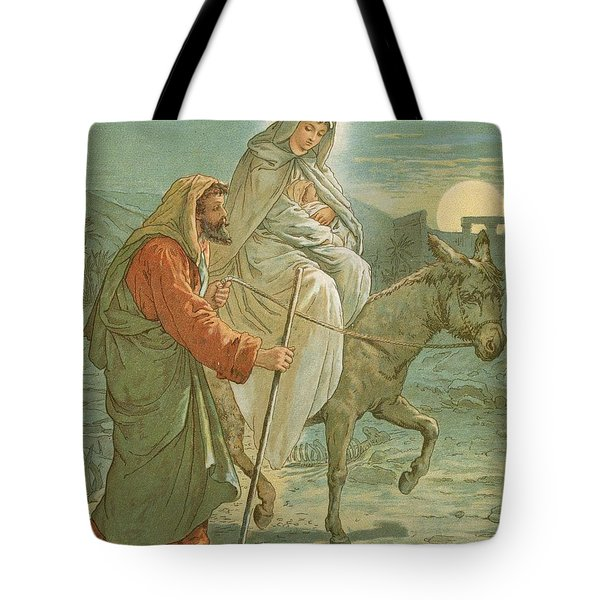 The Flight Into Egypt Tote Bag by John Lawson